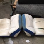 Ski Boat Seat Repair Before