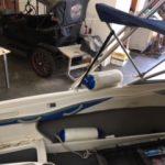 Ski Boat Seat Repair Before